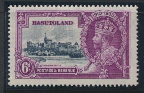 Basutoland SG 14 Mint Very Light Hinge trace Silver Jubilee