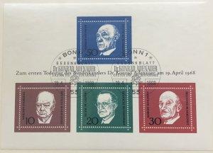 Germany 982 Used Souvenir Sheet SCV $2.00