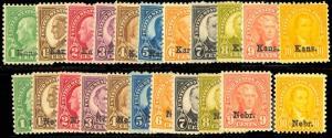 658-679, VF OG NH COMPLETE SETS - PO FRESH Cat $1071.50