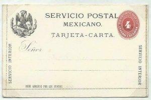 MEXICO 4c lettercard 1890 unused...........................................58710
