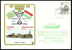 1975 Malmo V Ferencvaros European Cup Winners Cup Commemorative First day Cover