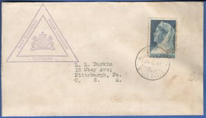 X828 - CURACAO NETHERLANDS 1941 Dutch Censored, WILLLMSTAD cover to USA