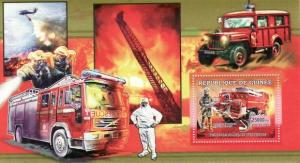 Guinea MNH S/S French Fire Engines 2006