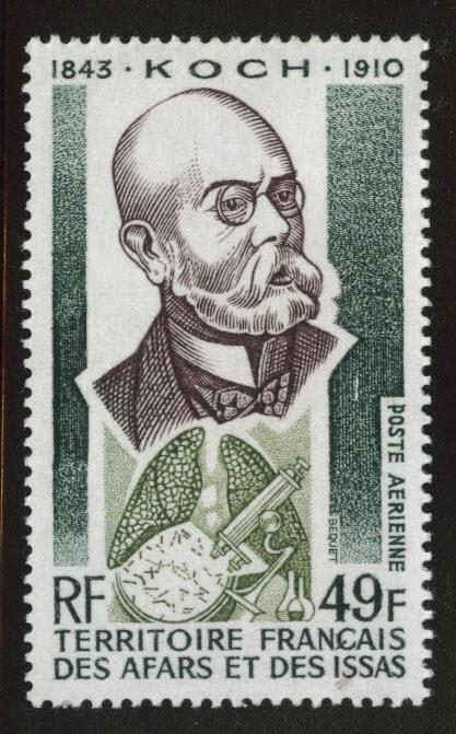Afars and Issas Scott C87 MNH** Dr. Robert Koch 49fr