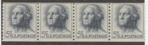USA stamp, mint, Scott# 1229, coil pair of four stamps,  #MX09
