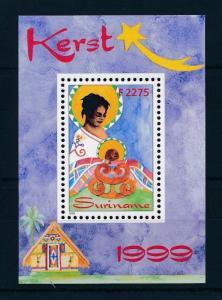 [SU1048] Suriname Surinam 1999 Christmas Souvenir Sheet MNH