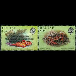 BELIZE 1984 - Scott# 715-6 Marine Life Set of 2 NH