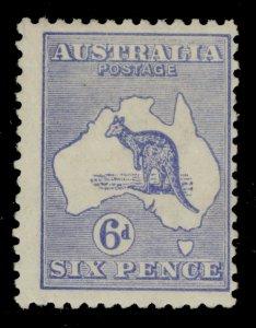 AUSTRALIA SG38, 6d ultramarine, LH MINT. Cat £80.