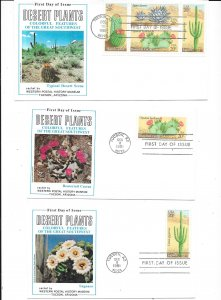 US#1942-1945a  Desert Plants (FDC) complete set  CV $6.50