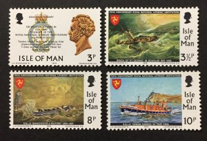 Isle of Man 1973 #36-9, Lifeboat Institution, MNH.