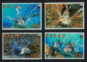 Palau WWF Red Lionfish 4v MI#2902-2905 SC#992