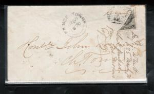 Prince Edward Island #9c Used Rare Bisect On Cover CDS PEI March 25 *With Cert.*