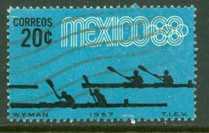 MEXICO 981, 20c Canoeing 3rd Pre-Olympic Set 1967, Used(638)