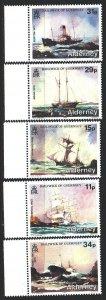 Alderney. 1987. 32-36. Shipwrecks, ships. MNH.