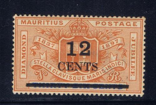 Mauritius 127 Hinged 1902 Surcharge
