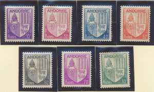 Andorra (French Administration) Stamps Scott #78 To 84, Mint Hinged - Free U....