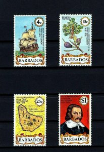 BARBADOS - 1975 - 1st SETTLEMENT - SAILING SHIP - FIG TREE + MINT - MNH SET!