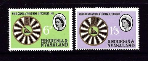 Rhodesia and Nyasaland 189-90 NH 1963 Service Clubs