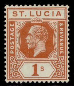 ST. LUCIA GV SG103, 1s orange-brown, LH MINT.