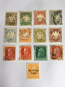 Bayern x13 used stamps
