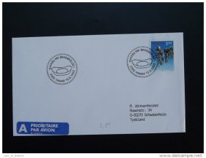 bicycle cycling world cup postmark on cover Norway 18/08/1993
