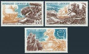 Gabon C178-C180,C181-C183,MNH.Michel 589-591,594-596. USA-200,4 JUILLET 1976.