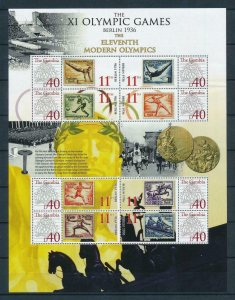 [105237] Gambia 2008 Olympic Games Berlin on stamps Almost perfect Sheet MNH