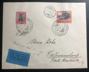 1932 Windhoek South West Africa SWA First Flight Airmail Cover To Keetmanshoop