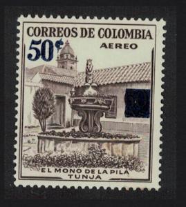 Colombia Monkey Fountain Tunja Surch 1v SG#960 SC#C321