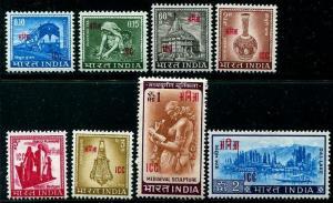 HERRICKSTAMP INDIA-LAOS & VIETNAM Sc.# 2-9 1968 Overprints