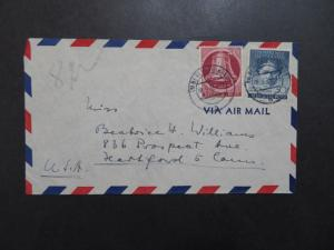 Germany Berlin SC# 9N79 & 9N80 On Cover to USA - Z9430