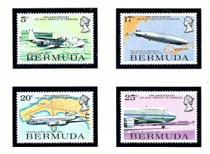 Bermuda 318-21 MNH 1975 50th Aniv of Airmail Service