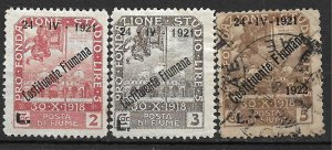 COLLECTION LOT # 105 FIUME 3 STAMPS 1921 CV + $128