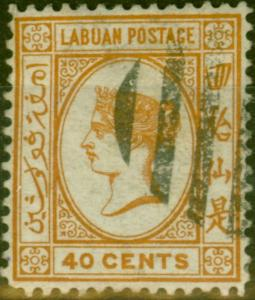 Labuan 1893 40c Brown-Buff SG47a Fine Used (1)
