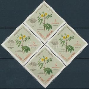 Sao Tomé e Príncipe stamp Herbal block of 4 MNH 1958 Mi 382 WS171546
