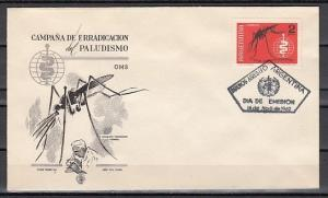 Argentina, Scott cat. 737. World Against Malaria issue. First day cover. ^