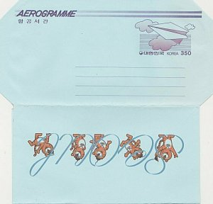 KOREA 350w aerogramme unused................................................K300