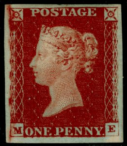 SG10, 1d deep red-brown, NH MINT. Cat £900+. 4 MARGINS. ME