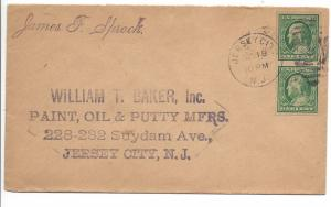United States, 383, 1c Franklin Imperf Pair Cover Addressed, Used