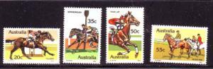 Australia  Sc 691-4 1978 Horse Racing stamp set mint NH