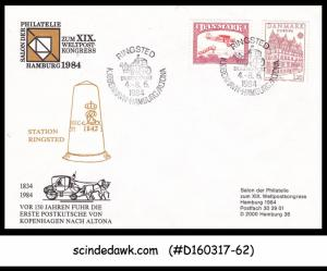 DENMARK - 1984 STATION RINGSTED SPECIAL PHILATELIC COVER WITH SPECIAL CANCL.