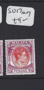 MALAYA PENANG  (P1705B)  35C  KGVI  SG17   MOG