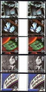 1996 Sg 1920/1924 Century of Cinema Gutter Pairs Set of 5 Unmounted Mint