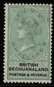 BECHUANALAND SG18 1888 5/= GREEN & BLACK MTD MINT