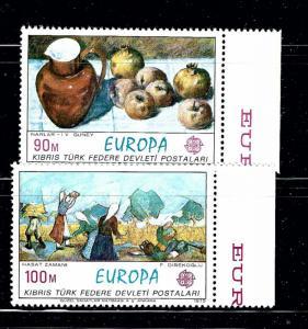 Turkish Rep in N Cyprus 26-27 MNH 1975 Europa