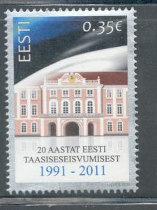 Estonia Sc 679 2011 Independence stamp mint NH