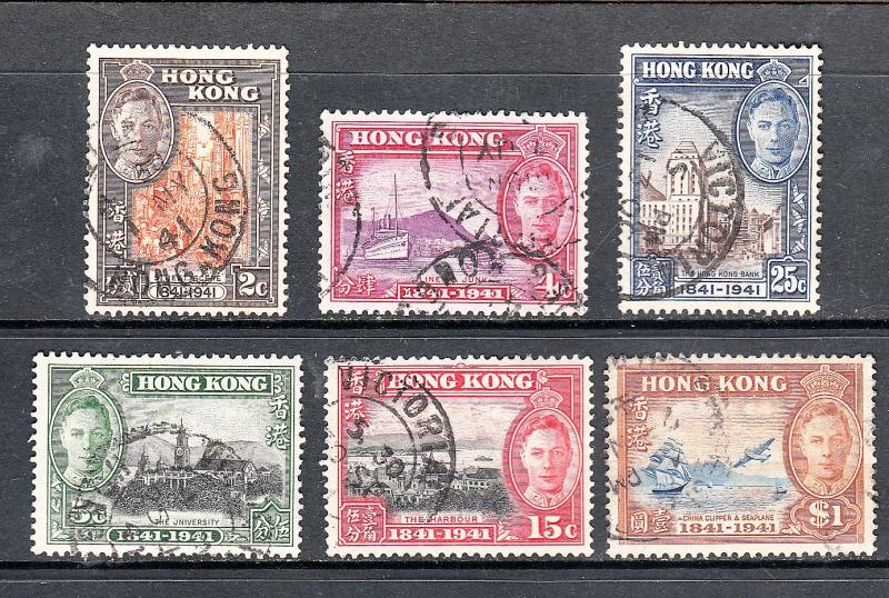 HONG KONG # 168-173 Complete Used Set