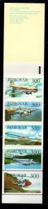 Faroe Islands Sc 138a 1985 Airplanes stamp booklet pane in booklet mint NH