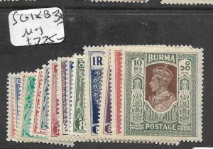 BURMA  (P1111B) KGVI  SG 18B-33   MOG