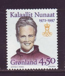 Greenland Sc 314 1997 25th anniv Queen stamp mint NH